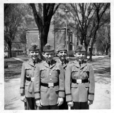 Your eager, skilled, and highly intelligent pilot; far left. circa. 1959. Glenwood School for Boys Glenwood, IL