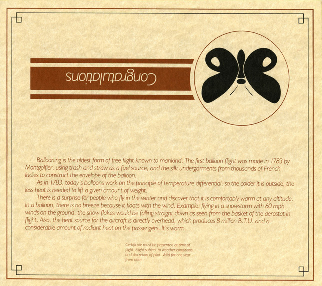 Outside of Mountain Butterfly gift certificate