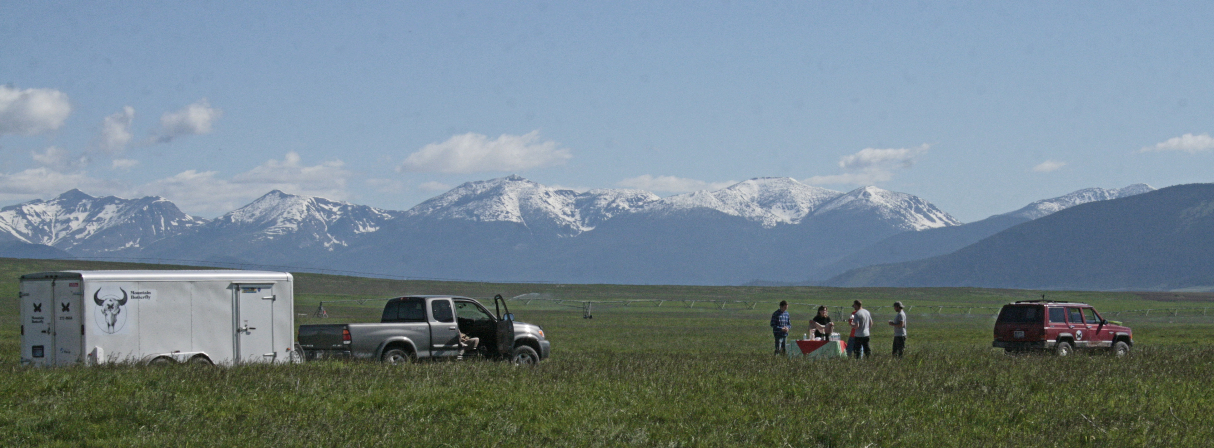 Southern boundary of The Bob Marshall Wilderness in the background.